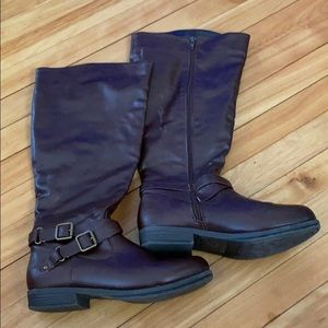 Brown Wide Calf Boots Size 8.5